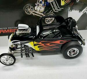 BLACK FLAMED ALTERED 1/18 DIECAST ACME DIECAST CAR #A1800804 1/996