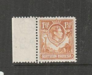 Northern Rhodesia 1938/52 GV1 1 1/2d Yellow Brown TICK BIRD flaw UM/MNH Marginal