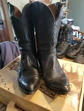 Lucchese vintage Brown Leather  Western Cowboy Boots Mens  Size 12 D