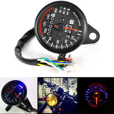 LED Backlight Signal Motorcycle Odometer KMH Speedometer Gauge Cafe Racer Cool