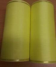 2 Rollen Moiré Kranzschleifenband  Kranzband gelb