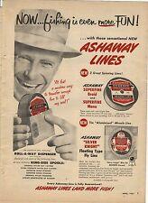 Original 1957 Ashaway Fishing Line Magazine Ad