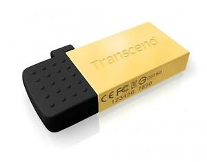 8GB Transcend Jetflash 380G OTG USB2.0 Flash Drive - Gold Edition