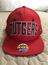 differently ee3f3 8042b Rutgers Scarlet Knights Zephyr Villain Youth Snapback Hat Nwt