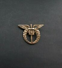 Rare Genuine WW2 Period Vintage Miniature Czech Air Force Pilot's Badge