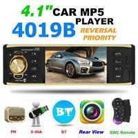 "4,1"" Autoradio mit Bluetooth Stereo MP5 MP3 Player USB AUX 1DIN Rückfahrkamera"