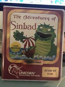 THE  ADVENTURES OF SINBAD by Unicorn for Atari ST/Mega/TT NEW disk