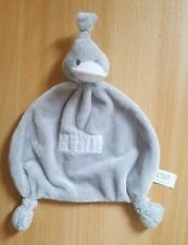 BamBam Duck Baby Comfort Blanket Soother Blankie - Grey