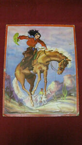 Vintage 1950s Western Horse No. 7329 Childs Tray Puzzle #5