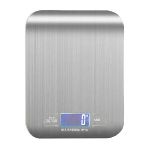 10KG Digital Cooking Kitchen Scales Electronic LCD Display Balance Food Weight