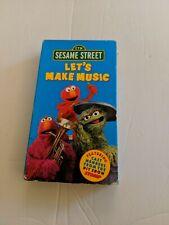 Let's Make Music Sesame Street VHS Video Tape