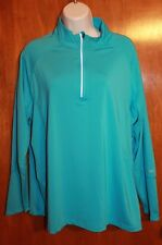 TRI-MOUNTAIN Ladies' XL 1/2 ZIP PERFORMANCE PULL-OVER (blue; Progressive) EUC