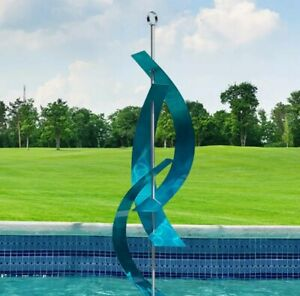 Statements2000 X Large Modern Metal Sculpture Yard Art Aqua Blue Decor Jon Allen