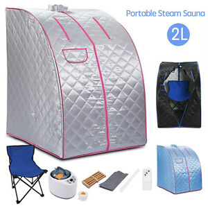 2L Portable Steam Sauna Home Spa Tent for Weight Loss & Detox Therapy with Chair