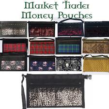 4 Pocket Market Stall Trader Money Belt Pouch Bag Adjustable Strap Satin Lace
