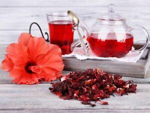 200g  Whole Flowers Hibiscus Loose Leaf Tea Brew  Premium Quality.