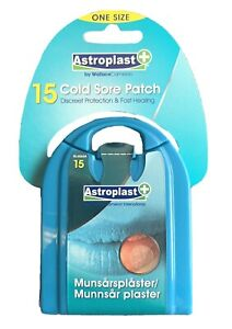 AstroPlast Cold Sore Plasters - 30 pack - Ultra Thin Clear Patch for Your Lip