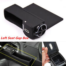 1Pc Left Side Car Seat Catcher Gap Filler Storage Box Coin Collector Cup Holder