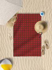 "58""x39"" Royal Stewart Tartan Microfibre Beach Towel Sun Bathing *TOWEL ONLY*"