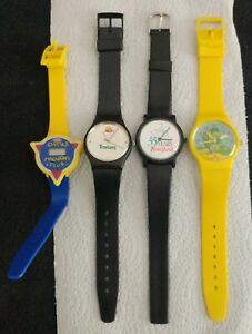 4 Watch Lot Kraft Cheese Disneyland 35th Tropicana Orange Green Giant Sprout Toy