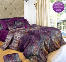 ASTER Super King Size Bed Duvet/Doona/Quilt Cover Set New