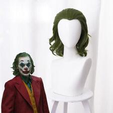 Mixed Green Joker/Arthur Fleck Hair Short 13inch Curly Cosplay Anime35cm Wig