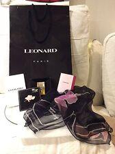 De Colección Nuevo TAMANGO LEONARD 7.5m Parfum Perfume + Mini Y Seda Bufanda Conjunto de Regalo Bolsa