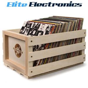 Crosley Record Vinyl Album LP Storage Wooden Crate Box CRAC1004A-B3