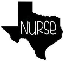 Texas Nurse RN LVN medical Hospital Doctor Vinyl Decal Sticker Yeti Car Truck