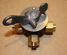 Aviation Spec Three Way Valve with 5/16 Solder Olives and Gland Nuts