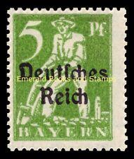EBS Germany 1920 Bavaria overprinted Deutsches Reich 5 Pfennig Michel 119 MNH**