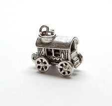 Vintage 925 Sterling Silver GYPSY WAGON OPENS TO FORTUNE TELLER Charm 3.2g