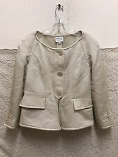 Armani Collezioni Women's Silk Blend Size 44 Evening Jacket Made In Italy NWT