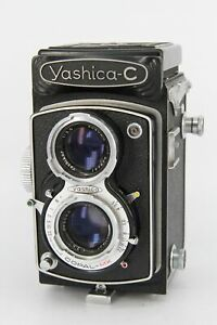 YASHICA C 6x6 TLR Film Camera 80mm 3.5 Lens - With Faults - Professionally Te...