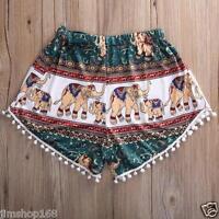 UK Womens Girls Summer Loose Sexy Pants Casual Beach Shorts High Waist Size 8-14