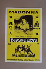 Madonna Concert Tour Poster 1984 Los Angeles w/ The Beastie Boys