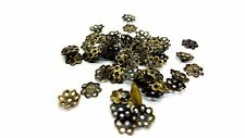 200 pcs 6mm Bronze Plated Flower Bead Caps - A5602