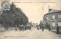 CPA 76 FOUCARMONT CONCOURS DE POMPES 1907 LA COMPAGNIE DE VIEUX ROUEN