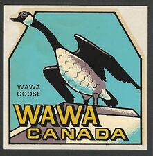"VINTAGE ORIGINAL 1960 SOUVENIR ""WAWA GOOSE"" TRAVEL DECAL ART ONTARIO CANADA"