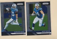 2018 PANINI PRIZM   Jack Doyle   Marlon Mack   Indianapolis Colts   2 CARD LOT