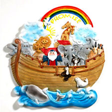 """Noah's Ark Plaque for Nursery or Child's Room 8"""" x 7"""" New"""