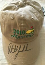 Phil Mickelson autographed signed autograph auto 2010 Masters logo golf cap hat