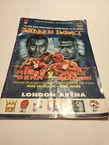 Boxing Programme. Benn Vs McClellan. Signed. 1995