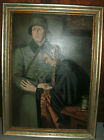 German WWII Painting 1943 Trier (B Solakowitsch) Kopie Nazi 3'X4' Historical Art