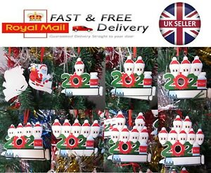DIY Christmas Tree Decoration Bauble Ornament Santa Vaccinated Family Vaccine
