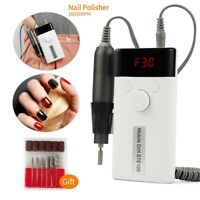 Portable Rechargeable Nail Drill File Pen Machine 30000RPM Manicure Tool Set Kit