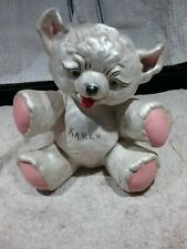 VINTAGE CERAMIC TEDDY BEAR BANK SIGNED ESHBACH EXCELLENT PRE-OWNED CONDITION