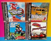 Test Drive 2 Motocross Mania ATV IHRA Racing Lot - Playstation 1 2 PS1 PS2 Games
