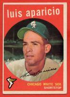 1959 Topps #310 Luis Aparicio EX+ HOF Chicago White Sox FREE SHIPPING