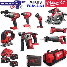 Milwaukee MILKIT8 8pc 18V 3x 5Ah Cordless Power Tool Kit Build-A-Kit